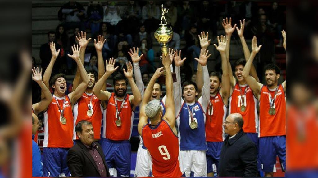 Selección Chilena de Voleibol masculino se corona campeón de Sudamericano y sueña con la Challenger Cup. Foto de selección chilena de voleibol
