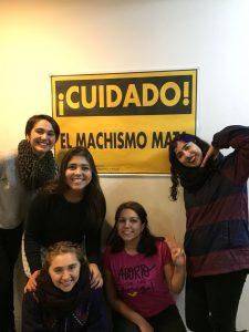 Con las amigas y en la casa en Copadas de la Radio JGM