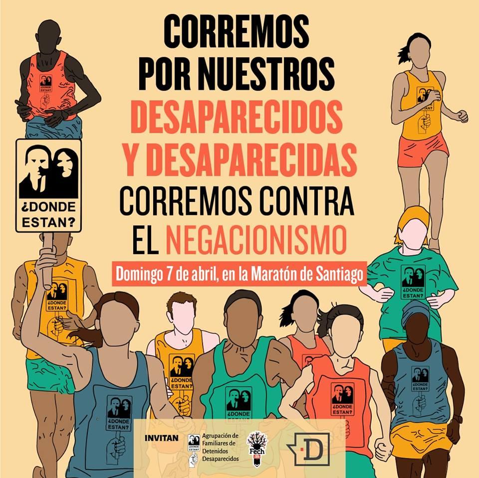 AFDD convocó a la Maratón de Santiago 2019 para dar cara al negacionismo