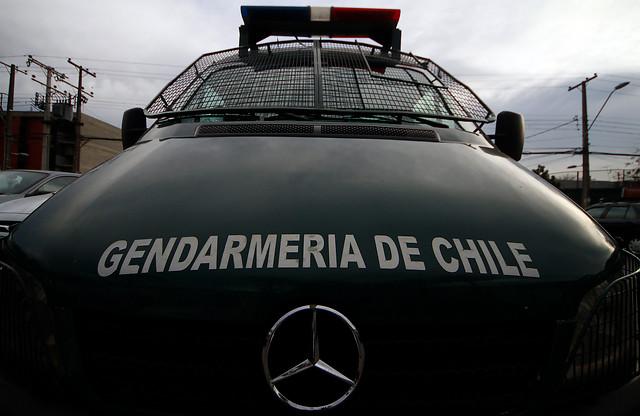 Imagen de un automóvil de Gendarmería de Chile