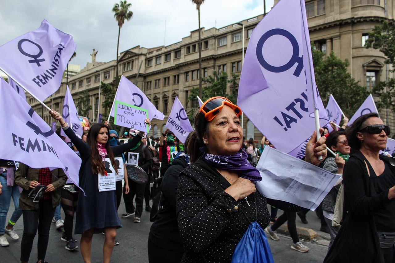 marcha feminista red chilena