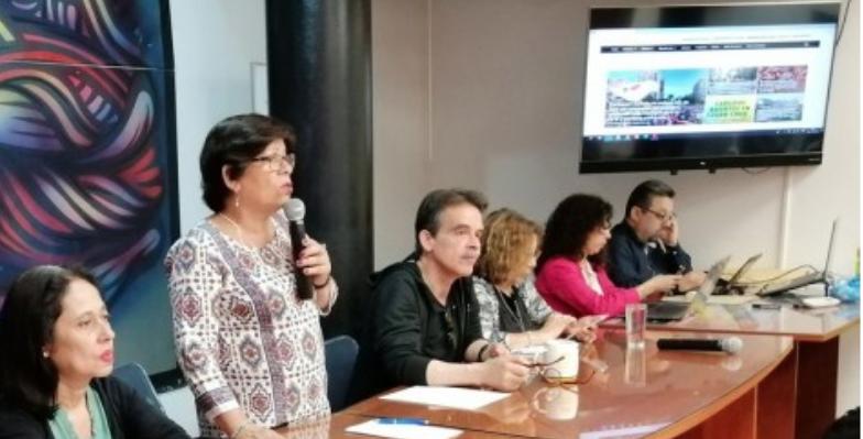 Archivo. Gabriela Flores liderando mesa de la Confusam.